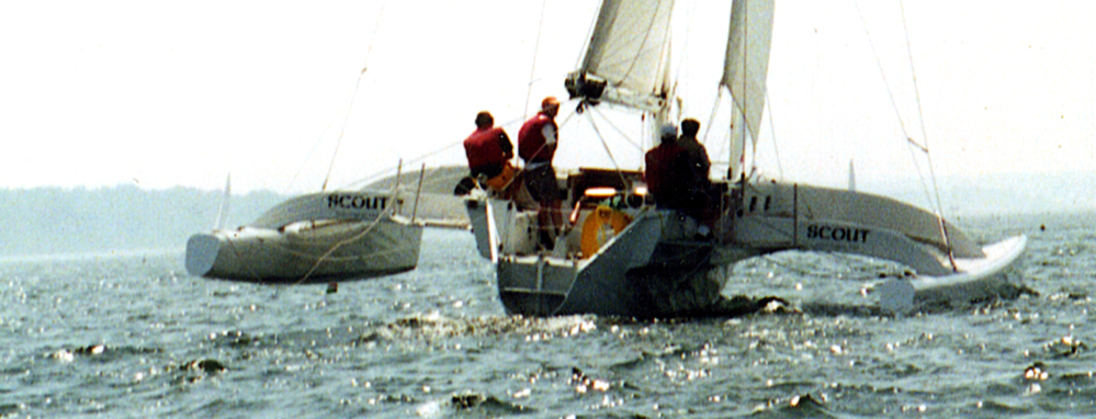 Greene racing catamaran sailboat